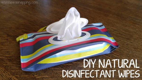 DIY Natural Disinfectant Wipes