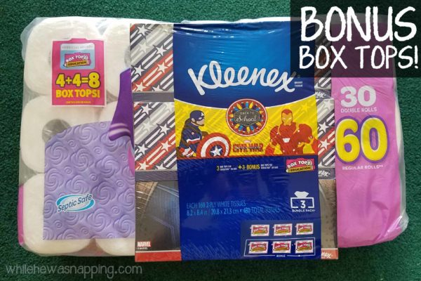 Natural Disinfectant Wipes and Bonus Box Tops