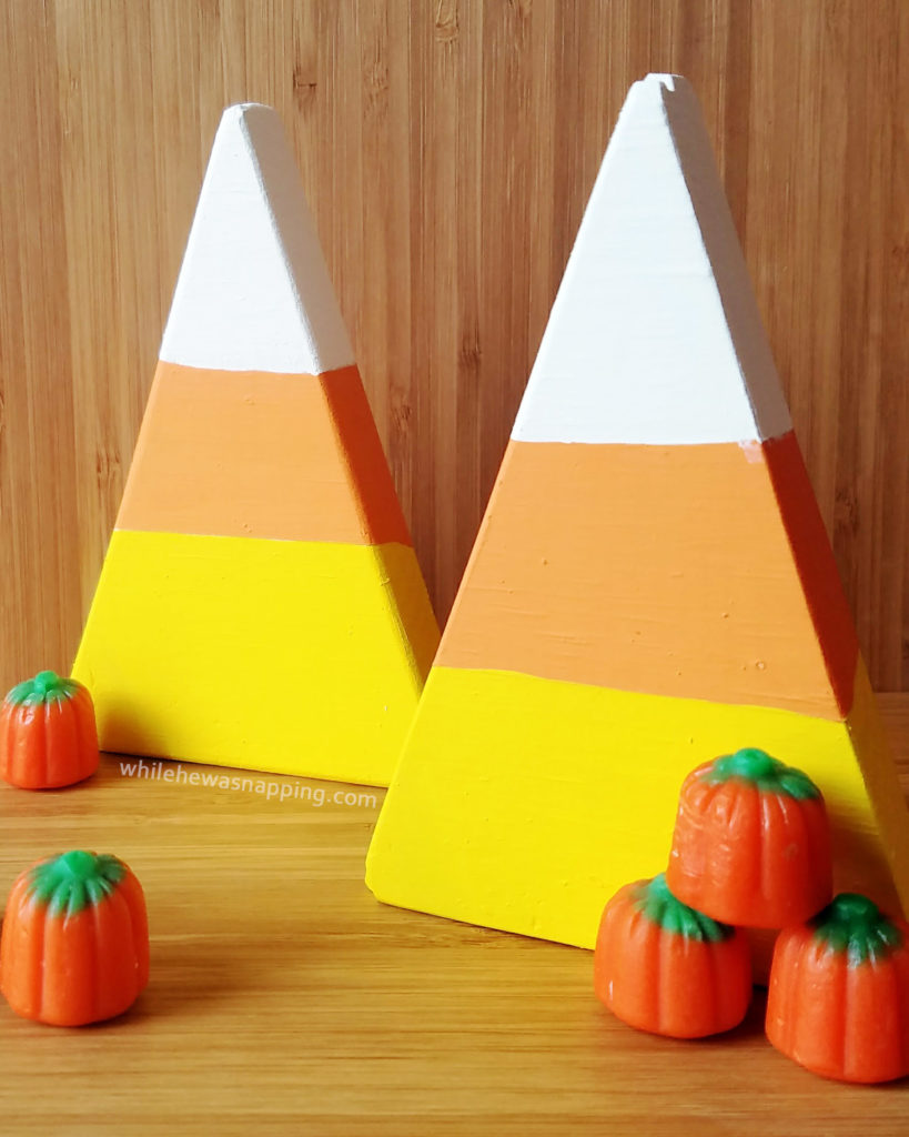 halloween decor decorations candy corn wood - Candy Corn Halloween Decorations