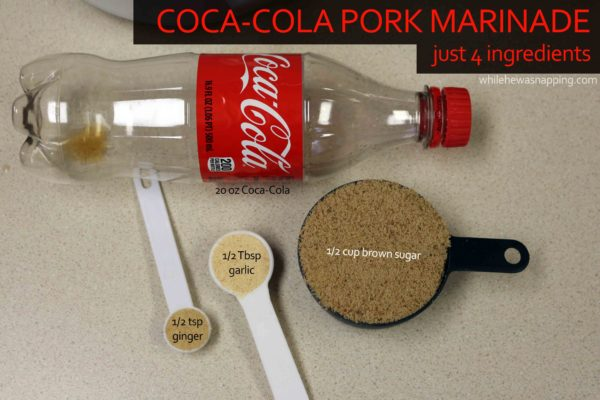Coca-Cola BBQ Pork Dip with 4 ingredient Pork Marinade on While He Was Napping