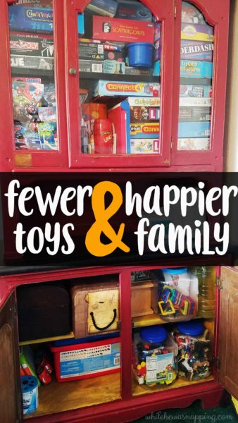 fewer toys happier family