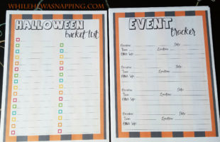 Printable Halloween Planner