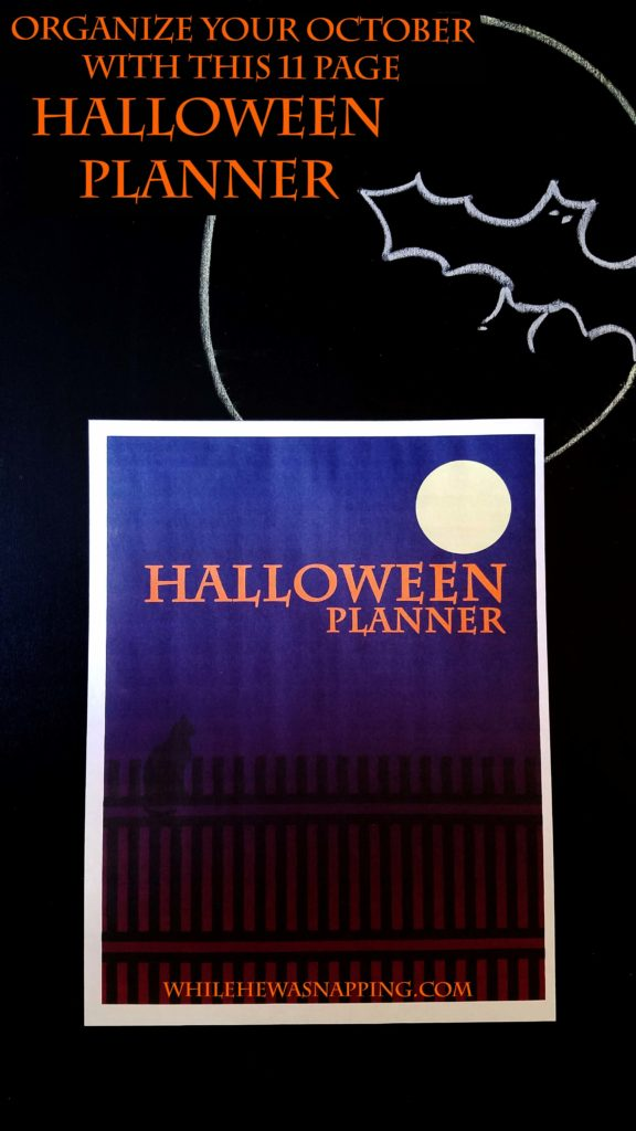 Printable Halloween Planner | While He Was Napping