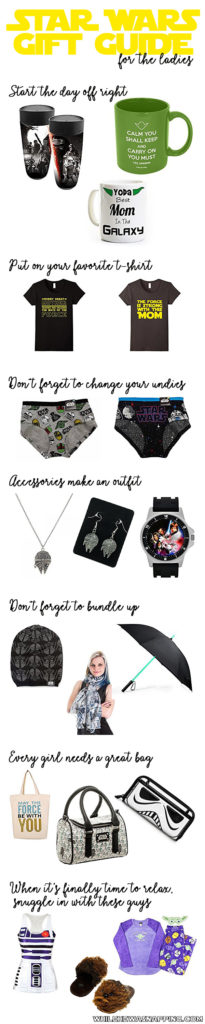 Do you have a favorite lady that is about all things Star Wars? Get her something she will really love! This is the gift guide you're looking for.