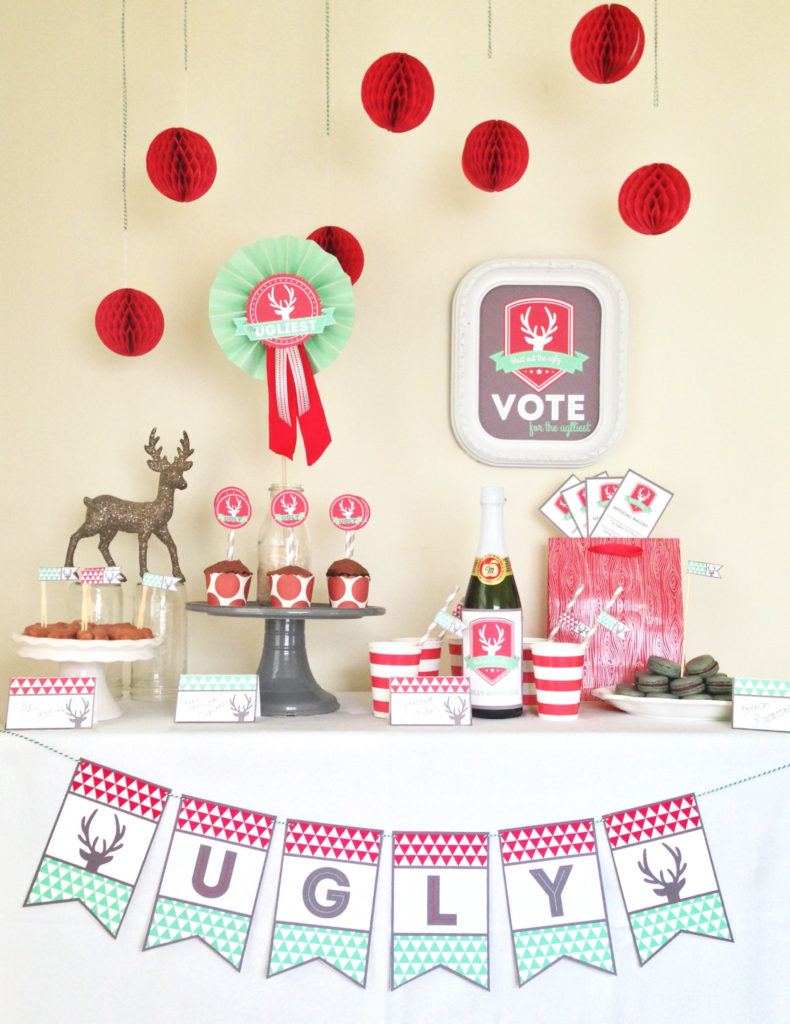all things christmas printable bundle a pretty little party