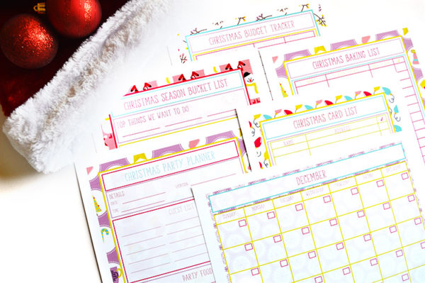 all things christmas printable bundle planning inspired