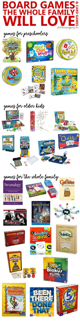 The best family board games you don't already have in the game closet. Games for preschoolers, big kids and the whole family.