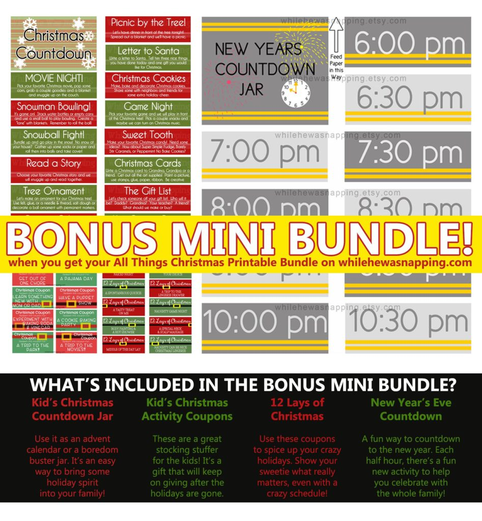 all things christmas bonus mini bundle offer