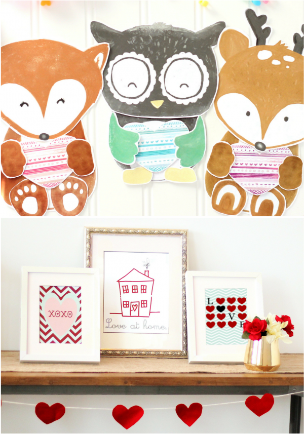 Valentines Bundle Crafts And Prints
