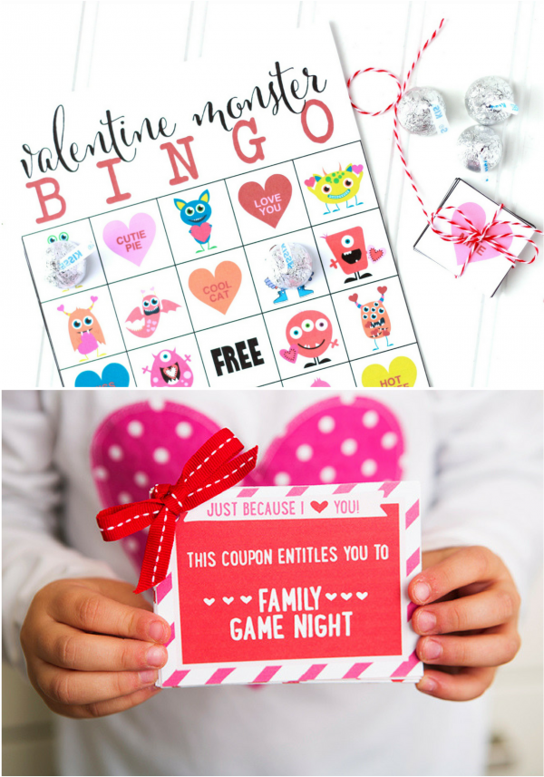 Valentines Day Bingo and Coupon Book For Kids