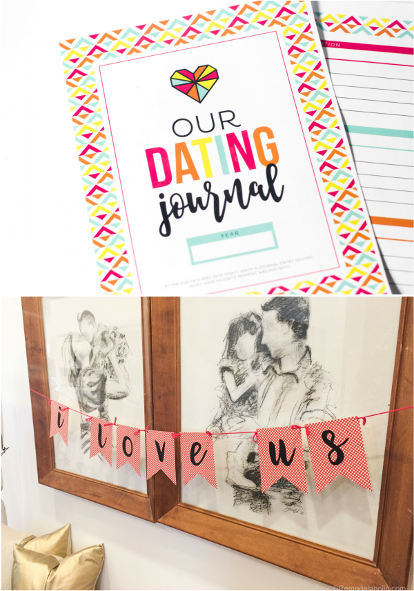 Valentines Day Date Night Printable Set And Bunting