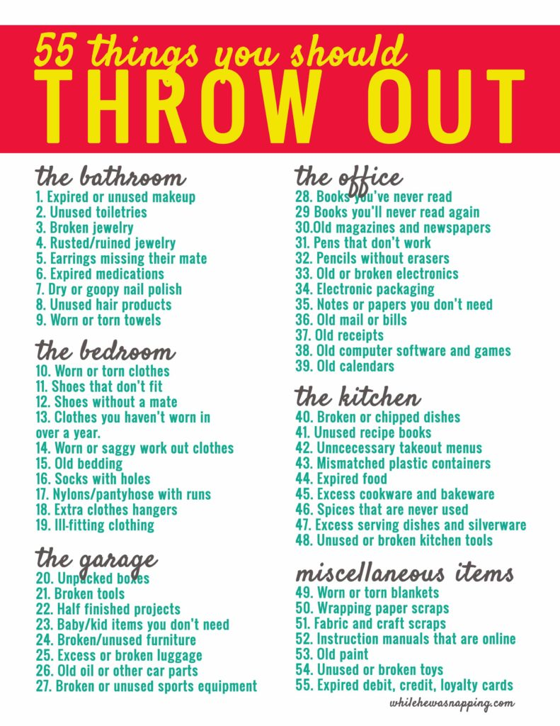 Conquer your clutter when you throw out these 55 things now