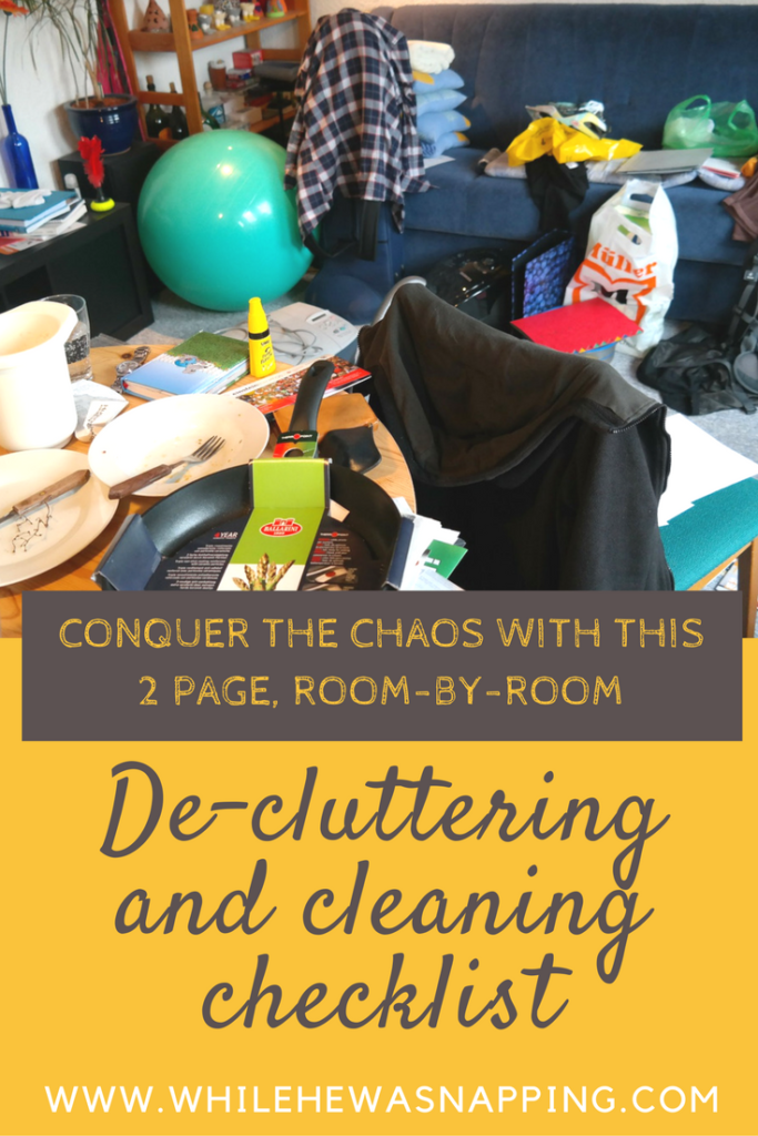 Conquer the Clutter Chaos Cleaning Checklist