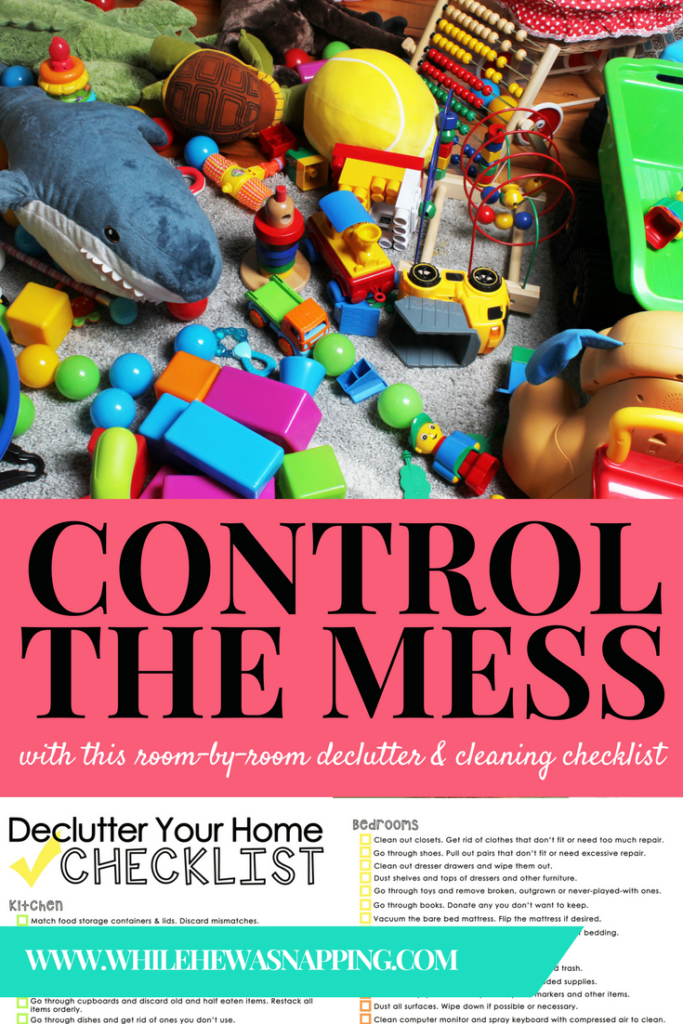 Control the Mess Cleaning Checklist