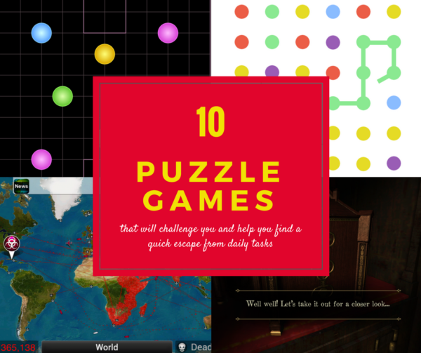 10 Puzzle Games that will challenge you and help you escape