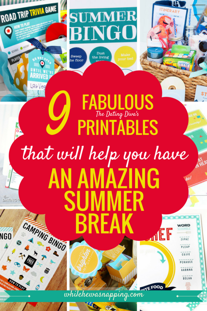 Summer Printables to Enjoy an Amazing Summer Break