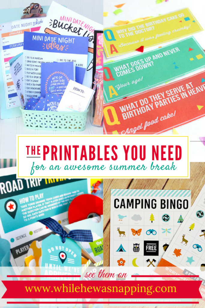 The Printables You Need for an Awesome Summer Break