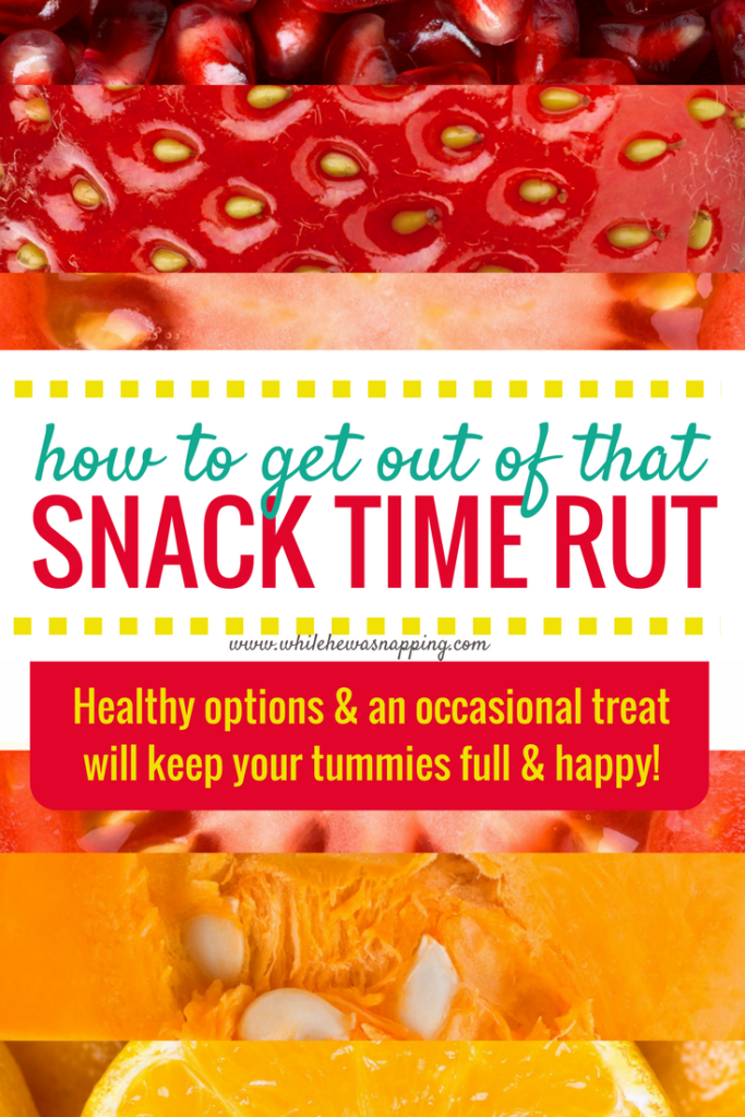 How to get out of that snack time rut with healthy options and an occasional treat