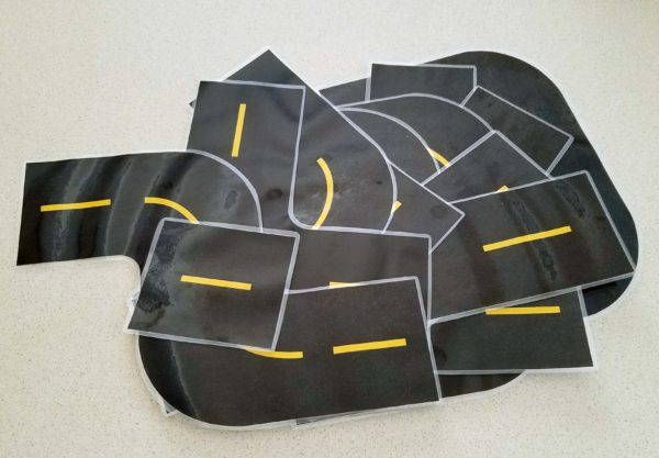 Printable Race Track Road Laminated Track Pieces