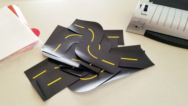 Printable Race Track Road Track Pieces Cut Out