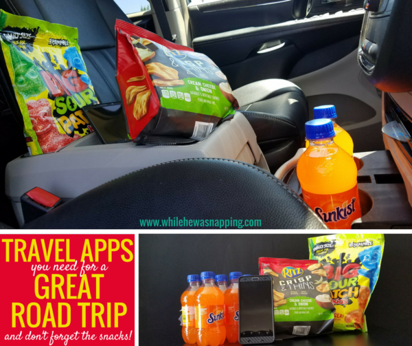 Travel Apps you need for a great road trip and don't forget the snacks!
