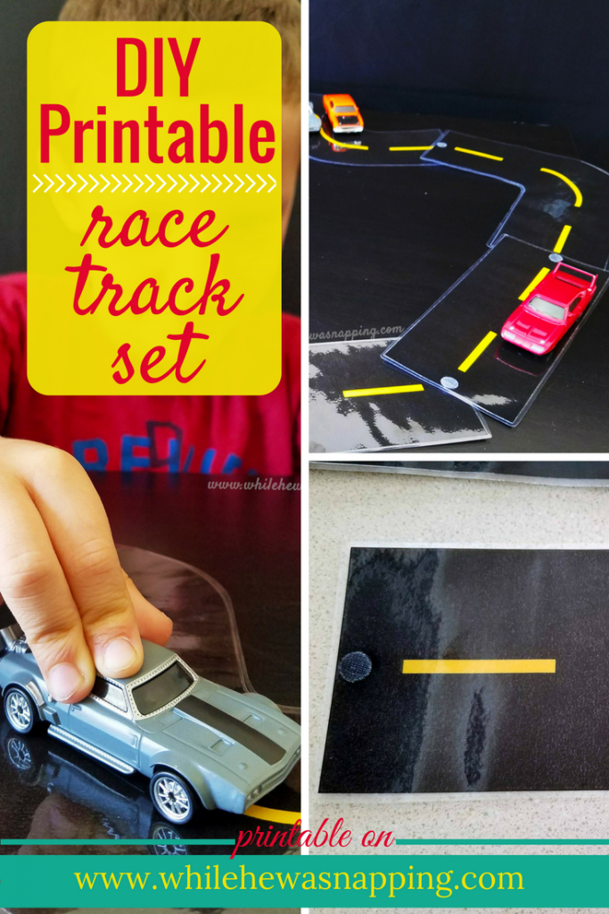 Does your kid love cars- Let them build their own race track with this printable track set! Get your download and instructions now!