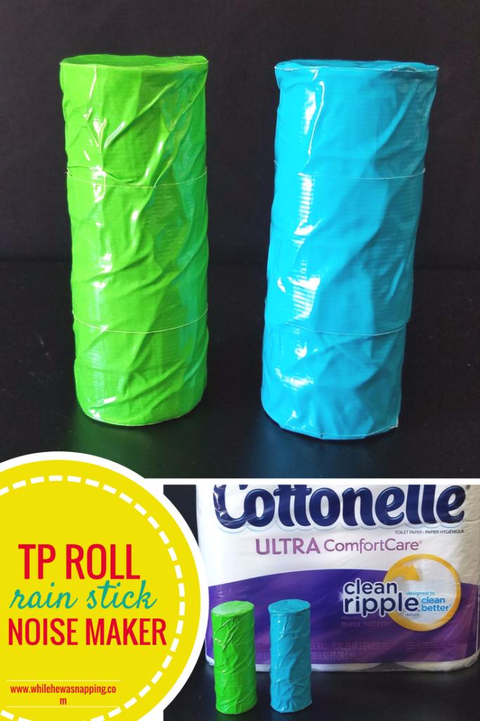 TP Roll Rain Stick Noise Maker