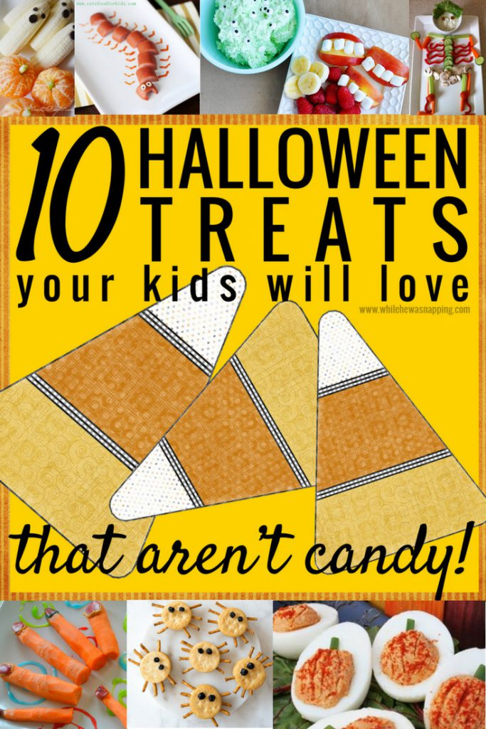 10 Halloween Treats your kids will love - that aren't candy! Cut down on the sugar with these healthy, spooky treats!
