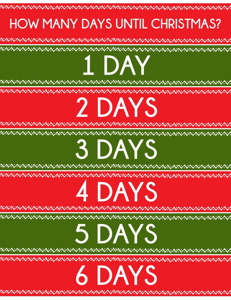 Simple Christmas Countdown Chain that will only take 20 minutes to make. A great visual of just how many more days until Christmas!