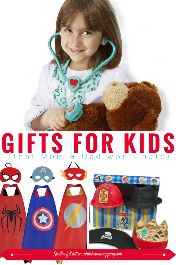 Dress up clothes make a perfect gifts for Kids that Mom & Dad won't hate! Let their imaginations run wild and encourage them to explore the world around them!