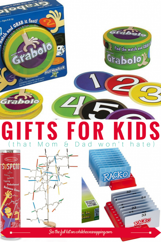 These family-friendly games are perfect gifts for Kids that Mom & Dad won't hate! It can be hard to find games that the whole family can play together, but these three are winners for sure!