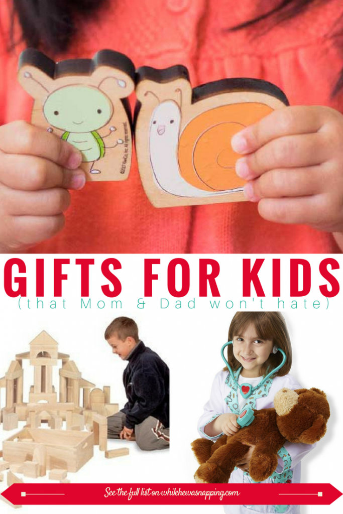 13 Gifts for kids that mom and dad won't hate. Gift giving to kids can be hard. They grow so fast and they play hard. Here are 13 gift ideas for kids that last and grow with them for years. And mom and dad won't hate having them around either.