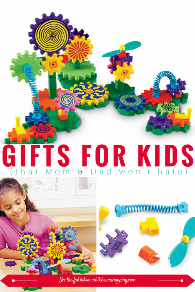 Gizmo Gears are Gifts for Kids that Mom & Dad won't hate. Encourage STEM play with this fun set of gears!