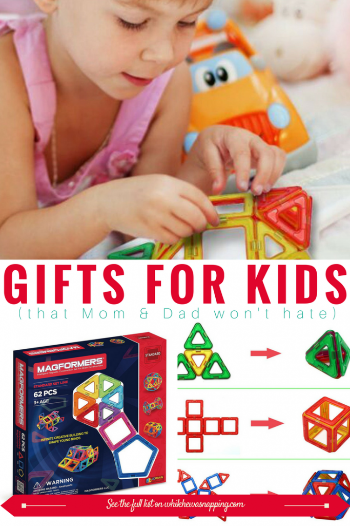These Magnet Blocks are perfect gifts for Kids that Mom & Dad won't hate! They are suitable for a variety of ages and provide hours of playtime!