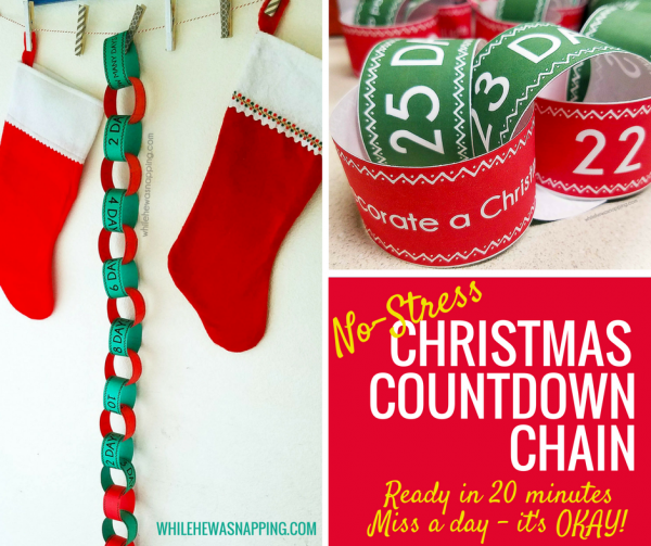 No-Stress Christmas Countdown Chain with Activities