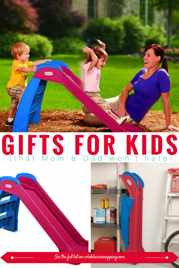 This small makes a perfect gift for Kids that Mom & Dad won't hate! Get rid of that pent-up energy inside with this fun toy that folds up super compact for easy storage!