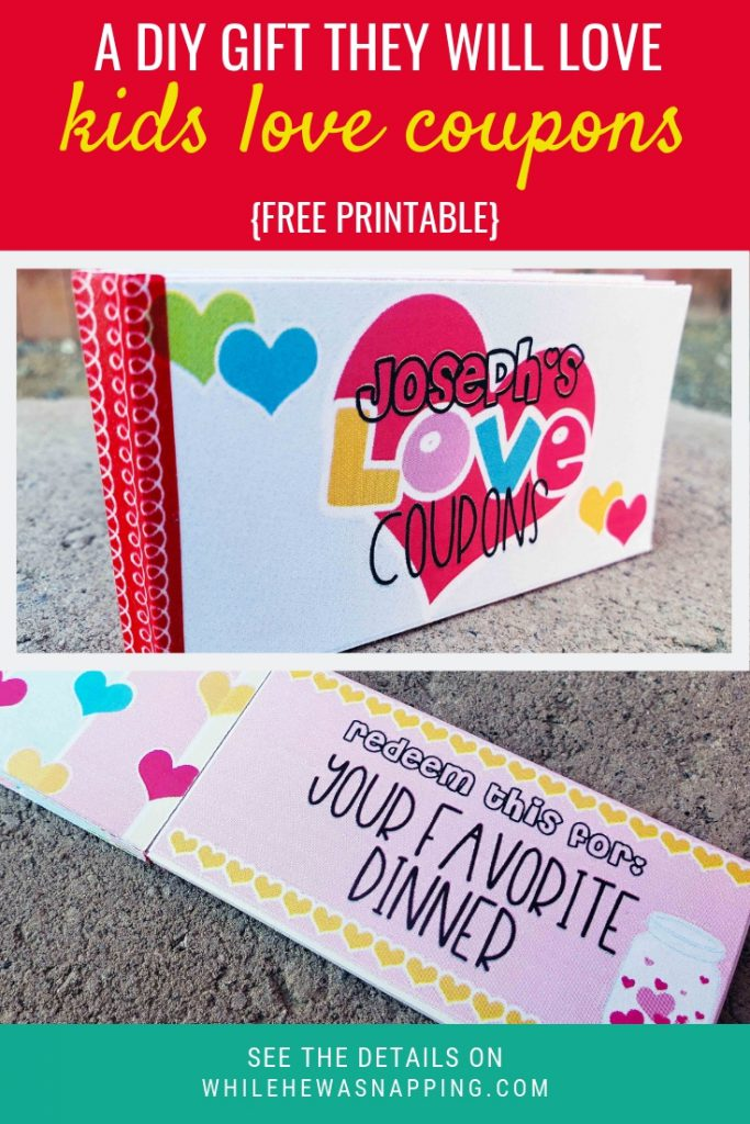DIY Gift for Kids Love Coupons