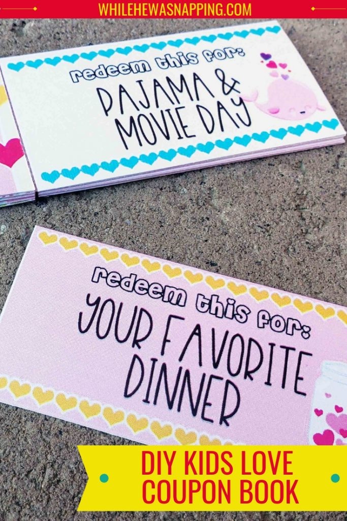 DIY Kids Love Coupon Book