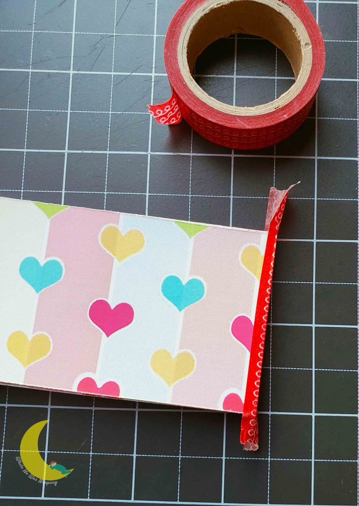 Kids Valentine DIY Love Coupons Washi Binding